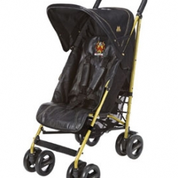 Maclaren has been making baby strollers (or pushchairs as they call them in the UK) for decades. But production of this special edition black leather and gold plated stroller is limited to ...  20