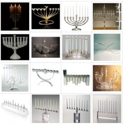 Over 140 hip Chanukkah menorahs! No 'novelty' menorahs, just a huge collection of nicely designed menorahs that are great alternatives to traditional ones.