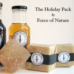 Loving the packaging of the Force Of Nature Holiday Pack soap and snaps.