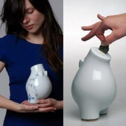 Theo is a modern piggy bank in several different editions designed by Morphorm's Martin Schatz,  in cooperation with Lee Kmji.  Theo is produced in Thuringia by Wallendorfer Porzellanmanufaktur. Check 'em out!