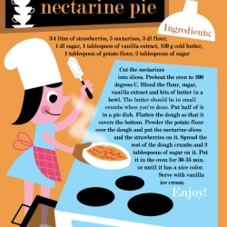 Illustrator extraordinaire Ingela P. Arrhenius draws one of her favorite pie recipes (profile and recipe).