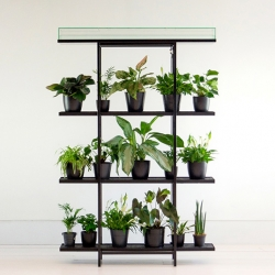 Pikaplant One by Pikaplant - Shelving that waters your plants for you. It's a passive, self-regulating system that mimics the natural ebb and flow cycle of groundwater.