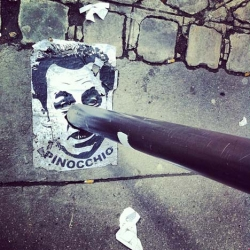 Street Art in France: Pinocchio Sarkozy