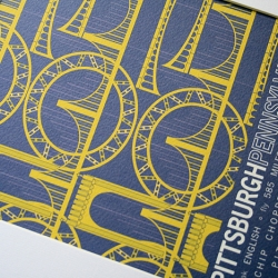 Did you know that Pittsburgh is a city with 446 bridges? Pittsburgh print from the Places I Have Never been collection.
