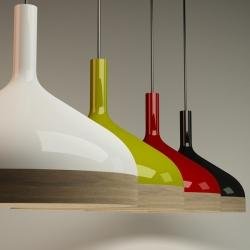 Plera is a new suspension lamp designed by Enrico Zanolla and Andrea Di FIlippo.  Pleara means funnel in Friulan, the language spoken in northeastern Italy.