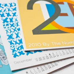 """Design studio/authors Post Typography just released their new calendar """"2010 By The Numbers"""" featuring 12 unique lettering and typographic approaches to the number 2010."""