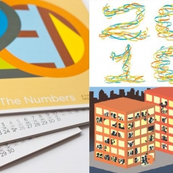"The Typographic Wall Calendar by Post Typography presents a different interpretation of the number ""2010"" each month with various illustrations."