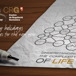 The Center for Genomic Regulation (CRG) in Barcelona, has created this greeting card for Christmas, something different for a scientific institute.
