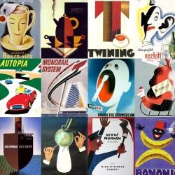 Bob Staake, awarded illustrator, and a huge selection of 50's posters.