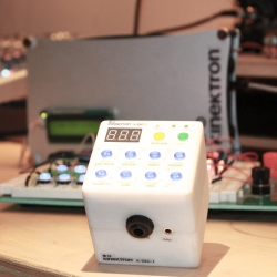 Kinektron's first product, the Synth Cube, will be available to purchase early next year.