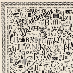Printer's Pie, 10x5' typographic mural created for Fuller's Ltd. by Alan J Bastien in 1955, claimed to be the first public presentation of Mistral typeface.