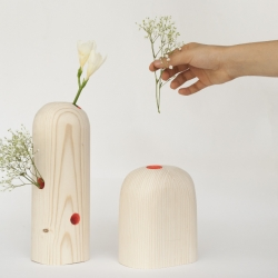 Trunk by Solène Hérault - a beautiful collection of wooden vases.