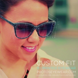 Protos just launched! Custom eyewear 3D printed to fit you.