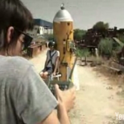 Crazy Kids building a rocket!