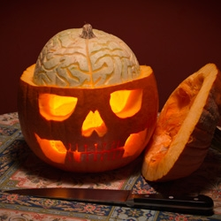 Skull-A-Day creator Noah Scalin discovered the hidden brain of a Jack-O-Lantern.