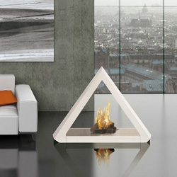 The pyramid bio-fireplace uses almost the same burner system as the  ecosmart fireplace I own and love. Seen at CABOOM last weekend.
