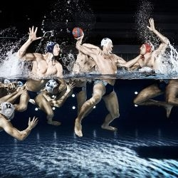 Rasmuss Kaesmann's novel depiction of the German water polo team made waves at the Sony World Photography Awards. Have a gander at some of its competition here.