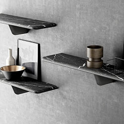 Egala shelves designed by Jean Louis Iratzoki for the marble furniture company Retegui, winner of a Wallpaper Design Award 2015.