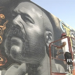 RETNA and El MAC collaborate on yet another mural, this one can be seen on La Cienega in Los Angeles. Brilliant time-lapse video of the whole creation process.