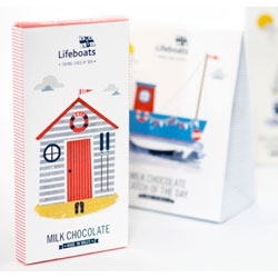 Playful package design by Supafrank for RNLI (Royal National Lifeboat Institution).