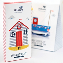 New RNLI confectionery packaging design by Supafrank. Designed to evoke and capture memories of 'beautiful days by the British seaside'.