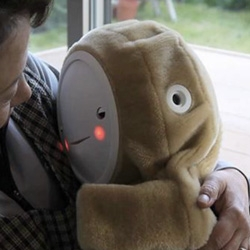 Babyloid, Japan's latest therapeutic robot baby, is  designed to help ease depression among older people by keeping them company.