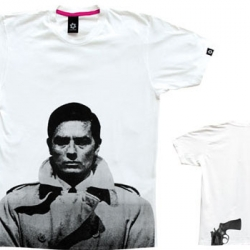 clark and sixpack have put together this awesome tee.  delon on front and gun in the back.