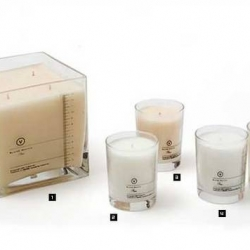 New candles by Japanese brand Visvim in collaboration with French perfumer Blaise Mautin. Nicely packaged looking like chemistry laboratory glasses.