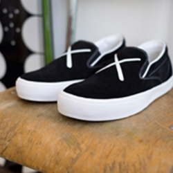 Japanese brand visvim now also got together with popular american artist Kaws to create these slip-ons!