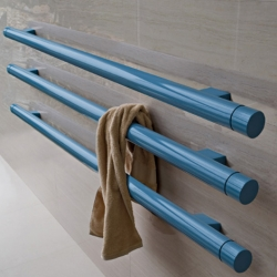 TBT tube radiator  was designed by Ludovica and Roberto Palomba, offers a little bathroom with modern luxuries and contemporary aesthetics, coated with chrome or paint in various colors.