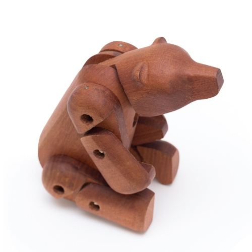 Grizzly Bear by Radishapes, wooden toys from native woods, designed and manufactured in Chile, using high tech machinery (CNC) and traditional woodworking.
