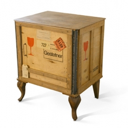 Italian designer Marcantonio Raimondi Malerba brings new ideas for old things. Export is a typical wooden crate used for shipping things. The legs added make a great sideboard. Cool idea.