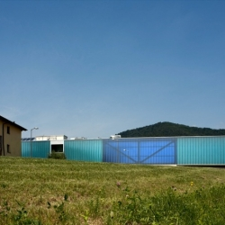 DAP Studio designed a dreamlike cultural center, floating over the landscape of Ranica.