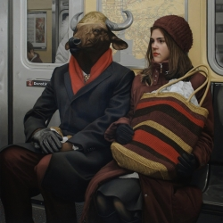 """Anomaly"" - Realistic Oil Paintings of Fabled Characters and Creatures In The Modern World by Matthew Grabelsky."