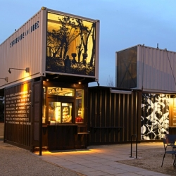 Starbucks Opens New Reclamation Drive Thru Made From Recycled Shipping Containers