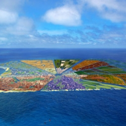 Whim Architecture, a group of crazy architects from the Netherlands, want to take all of the plastic floating in the ocean and turn it into a colorful island the size of Hawaii!