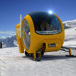 The new GOPR Rescue Snowmobile by Lange & Lange, swift and efficient for mountain rescues.