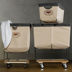 These industrial quality carts are made by the same company that's been providing carts for hotels, restaurants and the US government since the beginning of the 20th century.