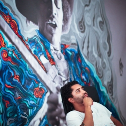To promote the launch of the documentary series American Revolutionaries, Oishii Creative brought in the prolific graffiti artist Retna to create a lineup of outdoor ads.