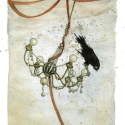 Leontine Greenberg - five beautiful watercolor bird paintings.
