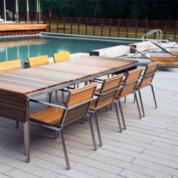 Edwin Blue  is a company that produces handmade outdoor furniture. Its first collection, called Rise, consists of several outdoor furniture made from eco-friendly, high quality, durable  materials.