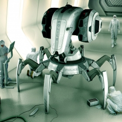 The C.R.A.B (Cybernetic Autonomous Remote Barricade) Droid designed by Jamie Martin.