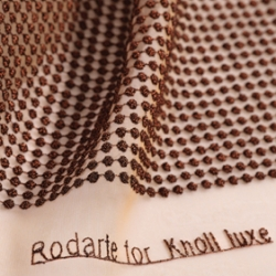 American fashion house Rodarte has designed a home textiles line for Knoll Luxe to be previewed at The Cooper-Hewitt National Design Museum.