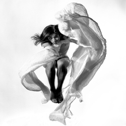 Video of flying bodies and textured images by photographer Paul Mahder