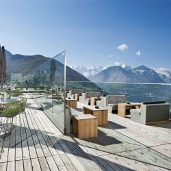 In Switzerland, the 104 year old Berghotel Muottas Muragl has been completely renovated!