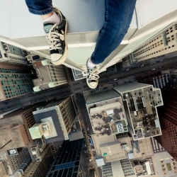 Warning: If you suffer from motion sickness or a fear of heights, staring at the above photo for too long might make you start to feel dizzy. Great shot by Canadian photographer Tom Ryaboi, aka Roof Topper.