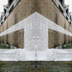 Rub Kandy created some amazing perspective Urban Art  that comes just in plain white
