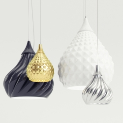 Ruskii and Ruskii Twist are two suspension lamps presented during the light+building 2012 in Frankfurt. Designed by Enrico Zanolla for Viso.