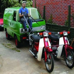 Inspired by the Wild West, Steve Williams' Snake Oil Sales Van replaces the trusty steed of yore with a couple of Honda mopeds
