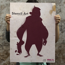 Free-B: A collection of work from MINDSIZE.US (Asher Eggleston) including stencil art with printable templates.